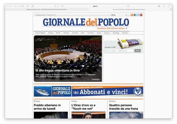 Giornale Del Popolo Neu