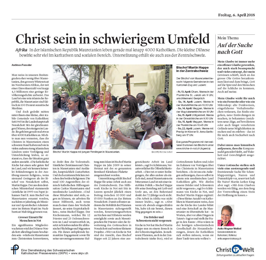 Christ Und Welt 2018 04 06