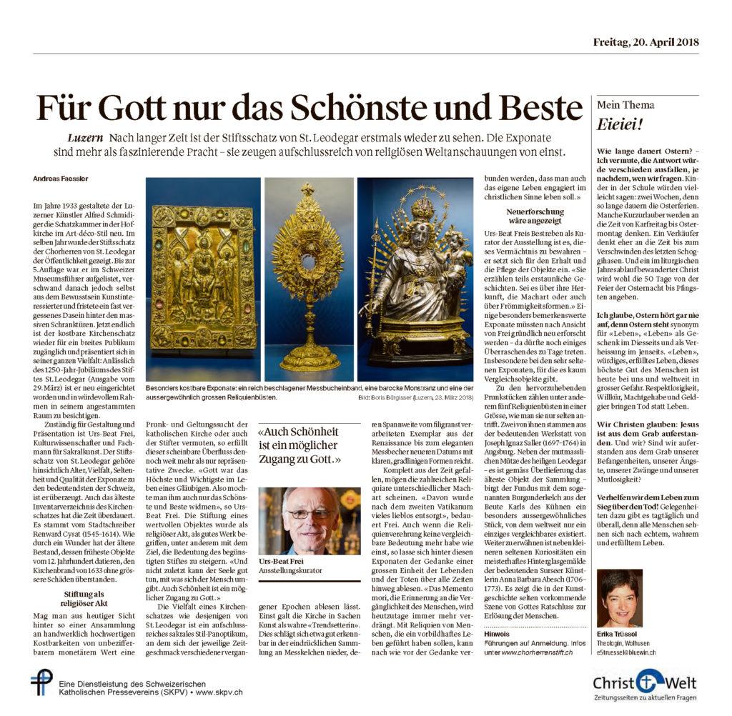Christ Und Welt 2018 04 20