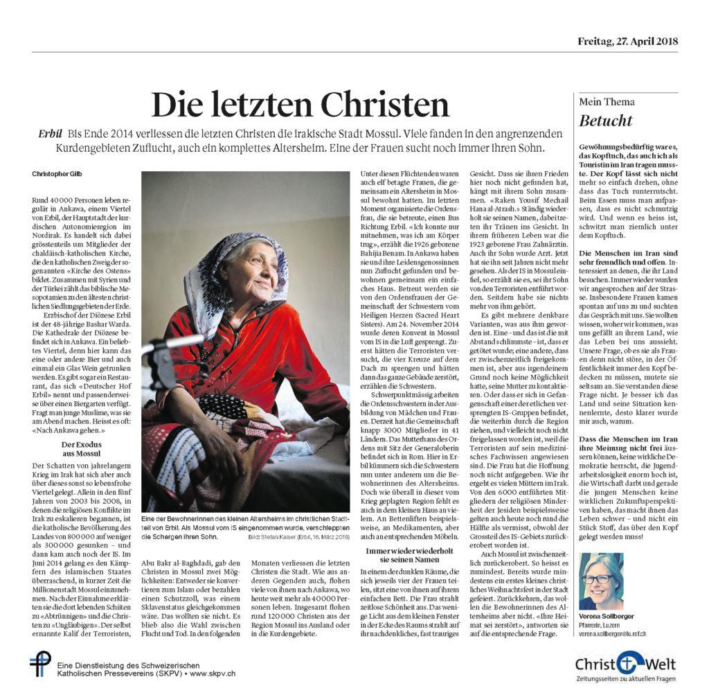 Christ Und Welt 2018 04 27