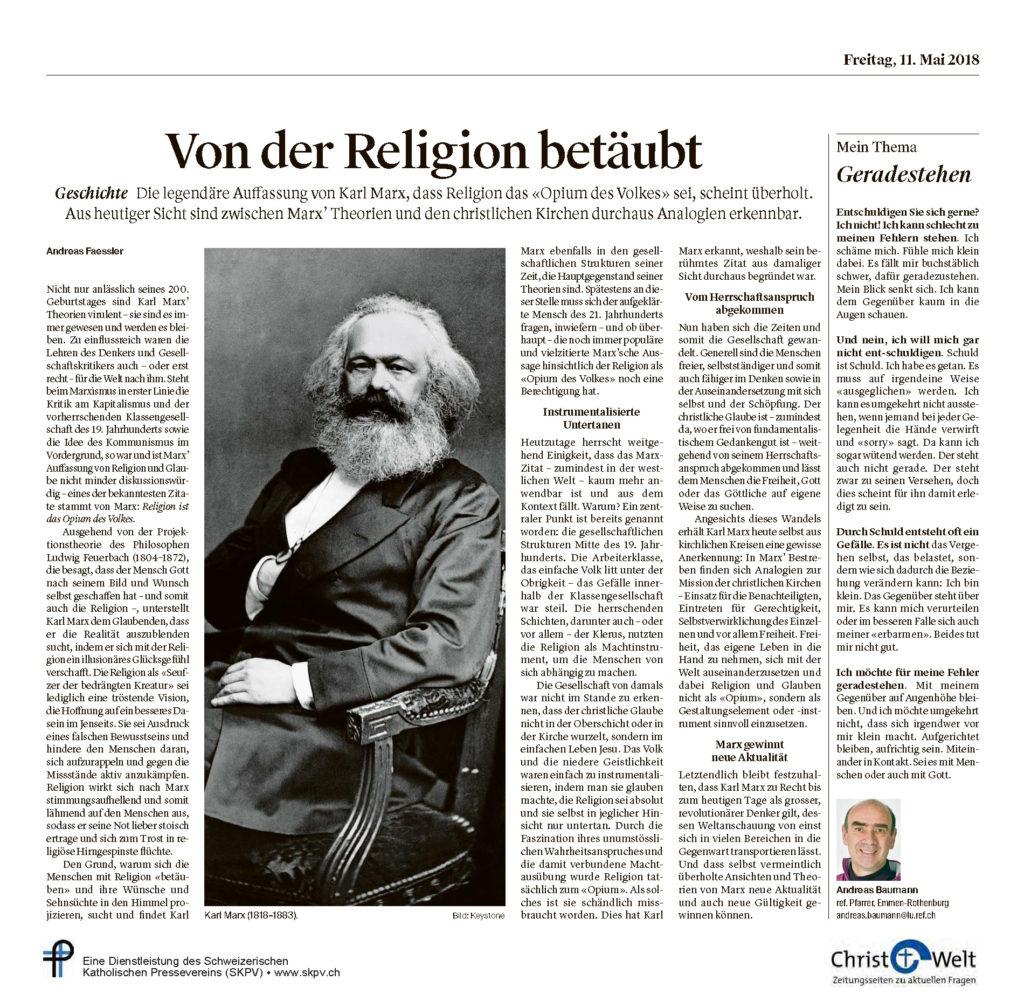 Christ Und Welt 2018 05 11