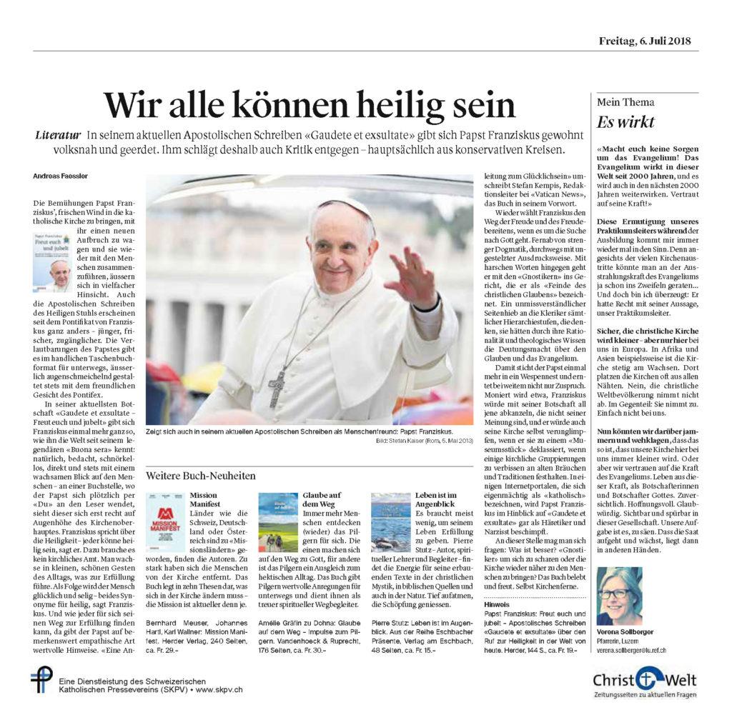 Christ Und Welt 2018 07 06