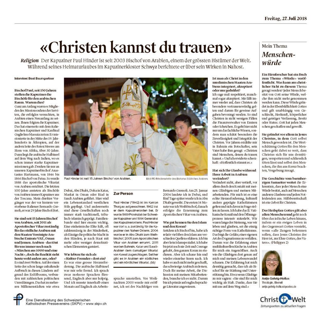 Christ Und Welt 2018 07 27