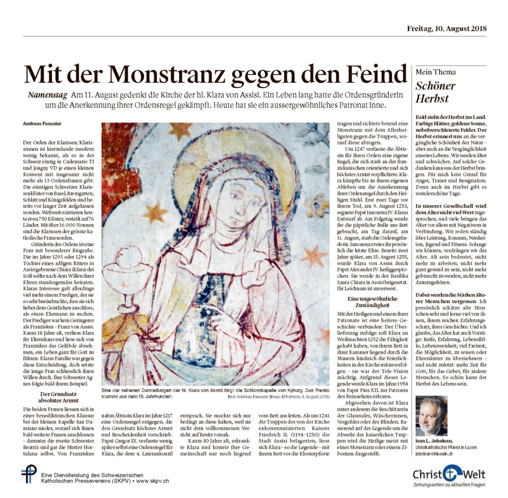 Christ Und Welt 2018 08 10