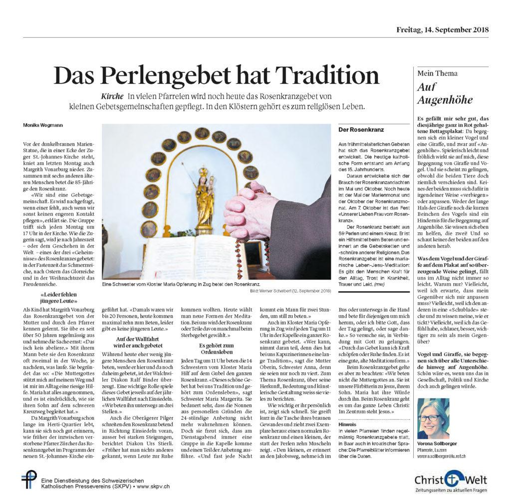 Christ Und Welt 2018 09 14