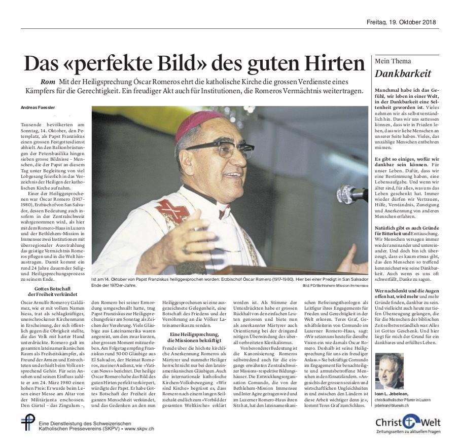 Christ Und Welt 2018 10 19