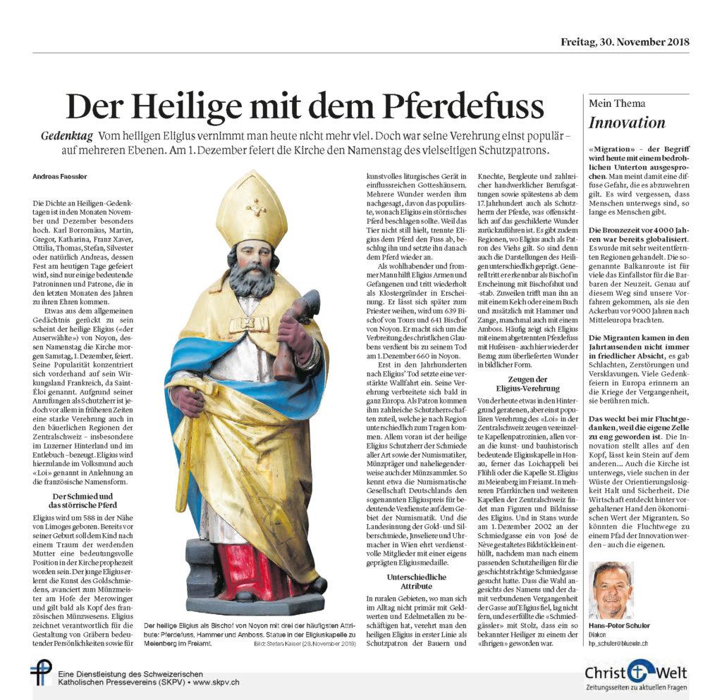 Christ Und Welt 2018 11 30