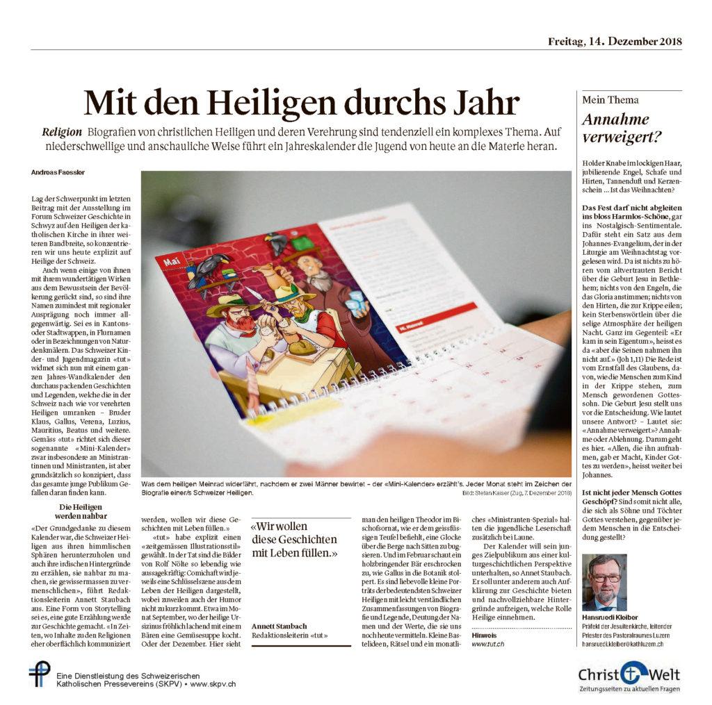 Christ Und Welt 2018 12 14