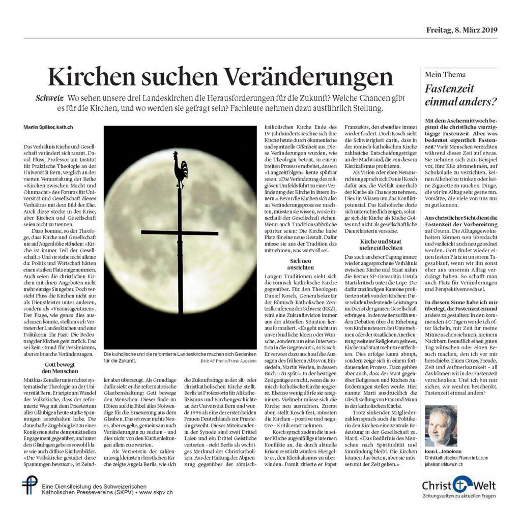 Christ Und Welt 2019 03 08