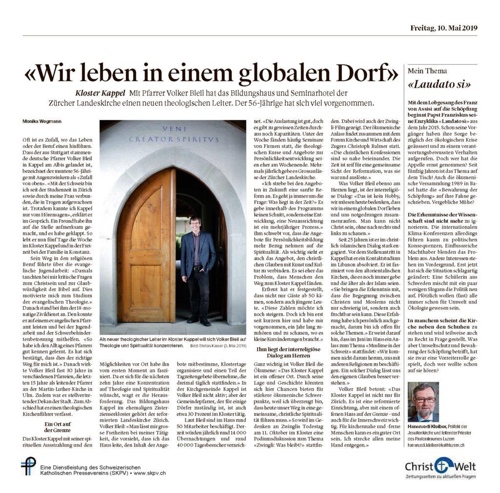 Christ Und Welt 2019 05 10