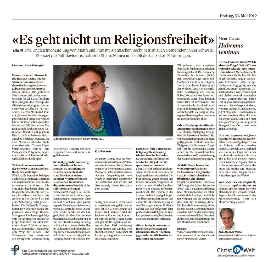 Christ Und Welt 2019 05 31