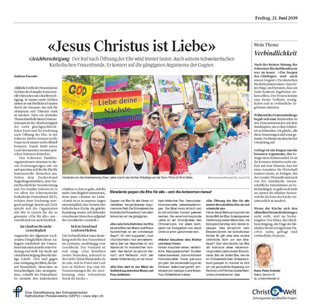 Christ Und Welt 2019 06 21