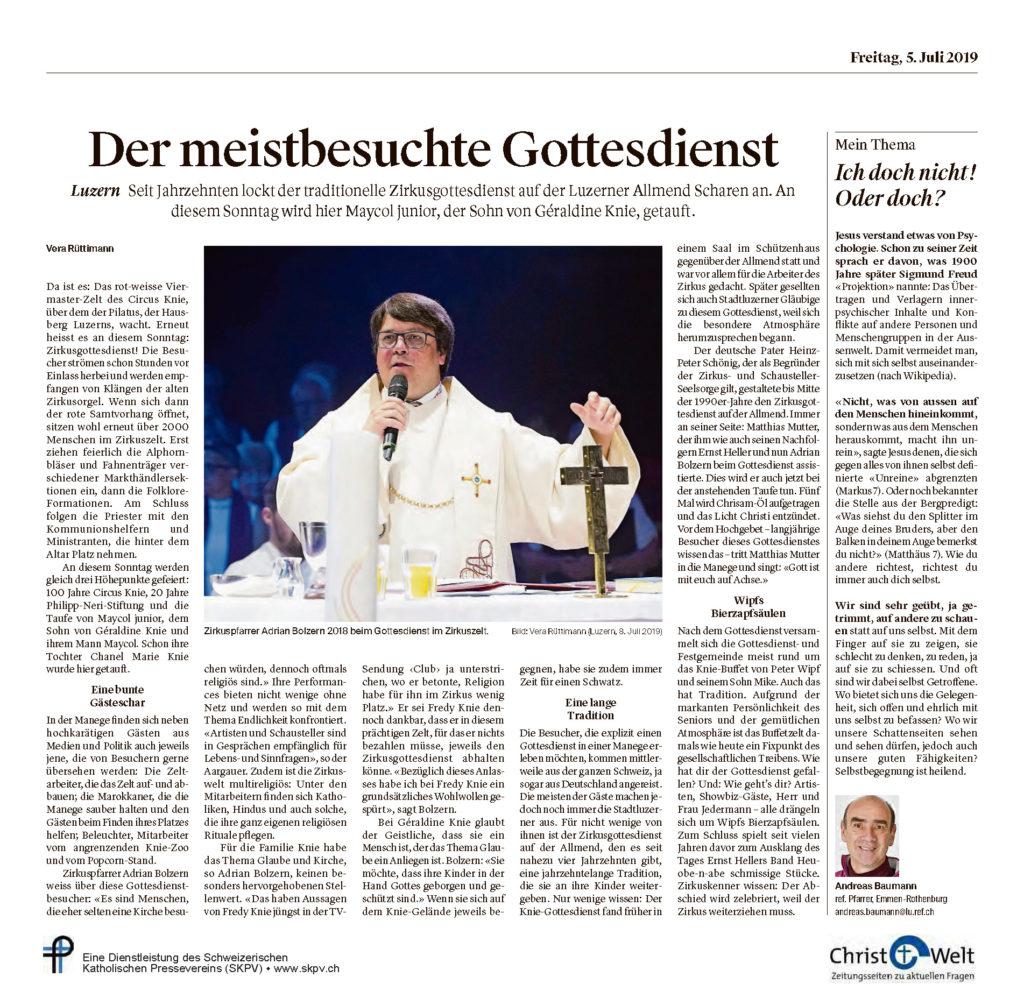Christ Und Welt 2019 07 05