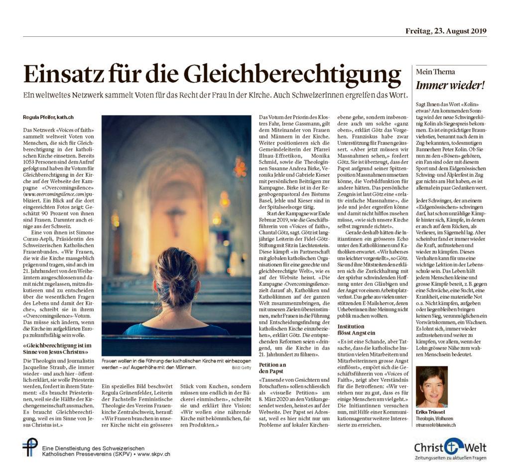 Christ Und Welt 2019 08 23
