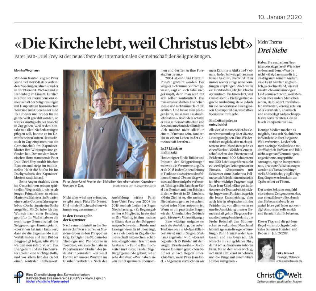Christ Und Welt 2020 01 10