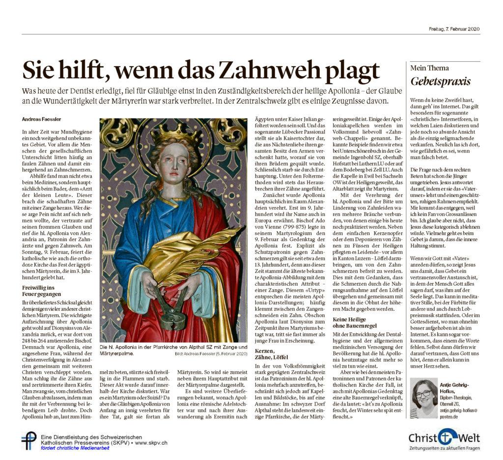 Christ Und Welt 2020 02 07